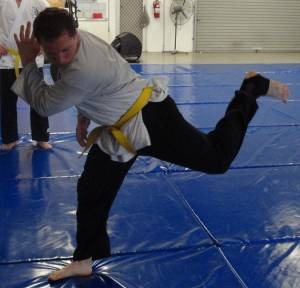 Karate Perth - Back Kick