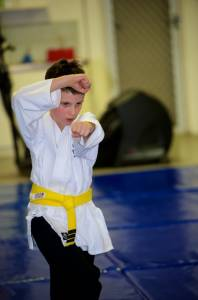 Kids Karate Perth - High Block and Punch